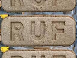 Топливный брикет из 100% дуба RUF (Руф) 3300 грн/т опт 22т
