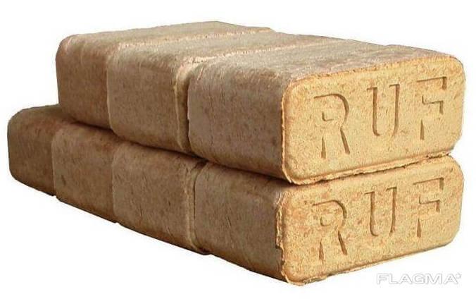 Топливные брикеты RUF, руф, дубовые брикеты
