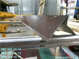 Торцевая планка на мягкую металлочерепицу, Ветровая планка