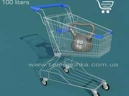 Торговая тележка с детским сидением. Объем 125 литров