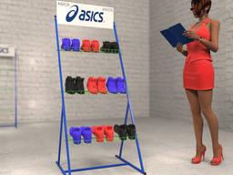 Торговые стойки Asics для обуви от Bendvis