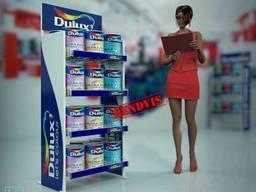 Торговые стойки для краски Dulux
