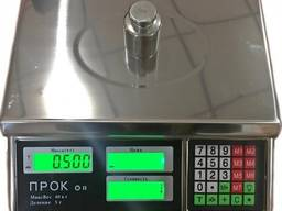 Торговые весы в металлическом корпусе