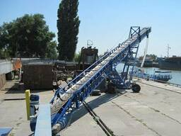 Транспортер ленточный передвижной для сыпучих зерновых
