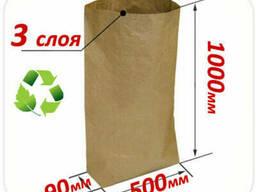 Трехслойный крафт мешок 1000х500х90 мм