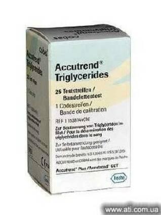 Триглицериды №25 тест-полоски к Аккутренд Плюс