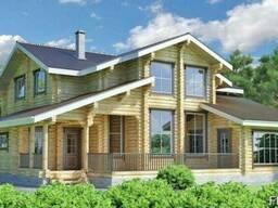 Строительство дома из оцилиндрованного бревна 13х14 м
