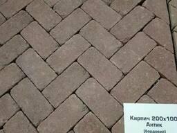 Тротуарна плитка кірпічик ТМ Золотий Мандарин - фото 2