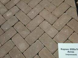 Тротуарна плитка кірпічик ТМ Золотий Мандарин - фото 4