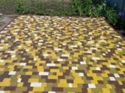 Тротуарная брусчатка Старый город. Цвет желтый, белый.
