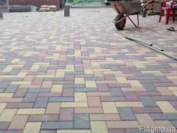 Тротуарная плитка кирпичик (брусчатка, прямоугольник)