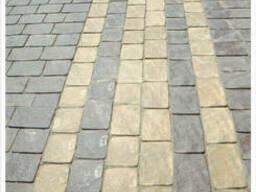 Тротуарная плитка желтая Львовская 5 см
