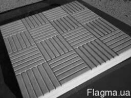 """Тротуарная плитка """"Печенье"""" серый 300 х 300 (11шт. в м. кв"""