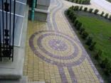 Тротуарная плитка брусчатка коричневая Ретро 5 см - фото 6