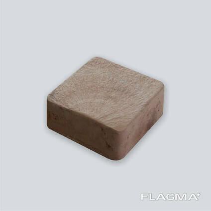 Тротуарная плитка брусчатка коричневая Ретро 5 см