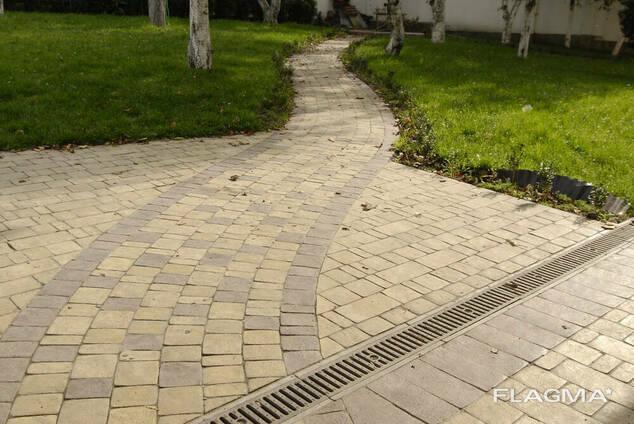Плитка тротуарная Ретро 3 см коричневого цвета