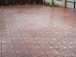 Тротуарная плитка (садовая) вибролитая в ассортименте