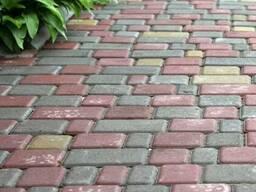 Тротуарная плитка старый город 40, 60 мм цветная