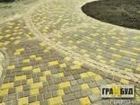 """Тротуарная плитка""""Старый город""""45мм желтая - фото 2"""