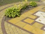 Тротуарная плитка брусчатка желтая Терасная 5 см - фото 7