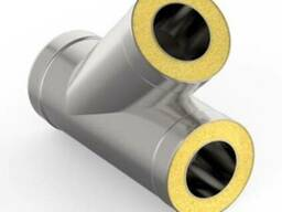 Тройник45*нерж 0,5/0,5мм, диаметр 100/200 мм. дымоход