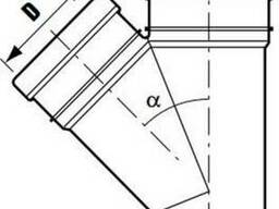Тройники ПВХ для внутренней канализации д 40/32. - фото 2