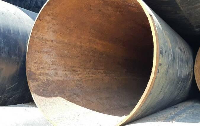 Труба 1420 мм, отрезаем куски