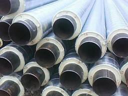 Труба сталева в СПІРО обол. ; Труба сталева в ПЕ об. 76/140