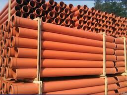 Труба для канализации 110 наружная SN2 со склада.