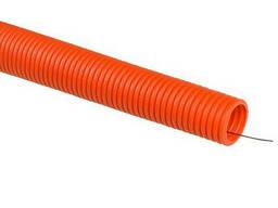 Труба гофрированная 220ТМ ПВХ НГ UV PRO Ø 32мм оранжевая 1м