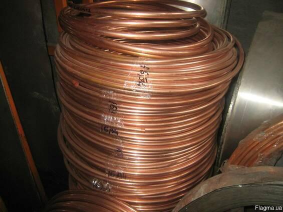 Трубка в бухтах медная, Ф=0,8-100мм, марка стали М1, М2