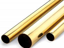 Труба латунная Л63размером 65х3, 5х3000 мм полутвердая