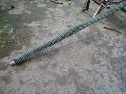Труби ребристі оцинковані Ф38х3 1000м.