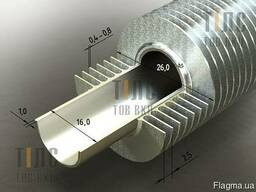 Труба оребренная нержавеющая 16х1х28 мм