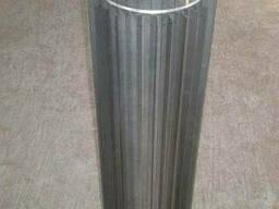Труба-радіатор ф 400 нержавіюча сталь 0,8 мм 1 м сталь 304