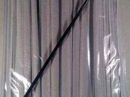 Трубочка для напитков d4. 8-21см в индив. упаковке Черная ровная (200 шт)