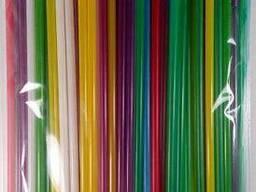 Трубочка для напитков с изгибом цветная d4. 8 24см Микс (200 шт)
