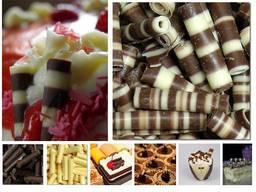 Трубочки шоколадные, из бельгийского шоколад