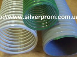 Трубопровод для вентиляции полиуретановый с ПВХ спиралью