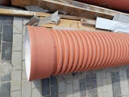 Трубы канализационные гофрированные двухслойные 500 мм
