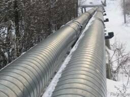 Трубы для теплотрасс теплоизолированные в СПИРО ПЕ оболочке