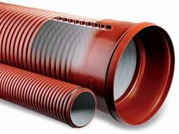 Трубы гофрированные для канализации двухслойные и фитинги