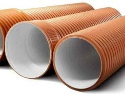 Трубы гофрированные Polycorr для наружной канализации