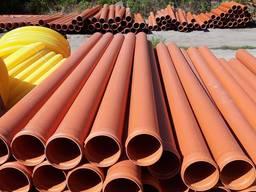 Трубы канализационные, дренажные 110, 160, 200, 315, 400, 500