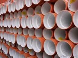 Трубы полипропиленовые двухслойные гофрированные 250х6000SN8