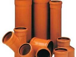 Труби ПВХ ф 110 для зовнішньої каналізації з разтрубом