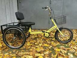 Трёхколёсный грузовой велосипед для взрослых Атлет большой