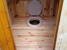 Почтой - Туалет дачный из имитации бруса в разобранном виде