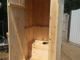 Туалет для дачи, душевая кабина деревянная - фото 2