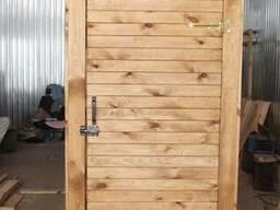Туалет для дачи с деревянной вагонки